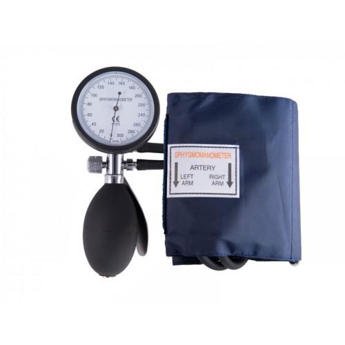 Blodtryksmåler Aneroid Énhåndsbetjening med Taske Navy